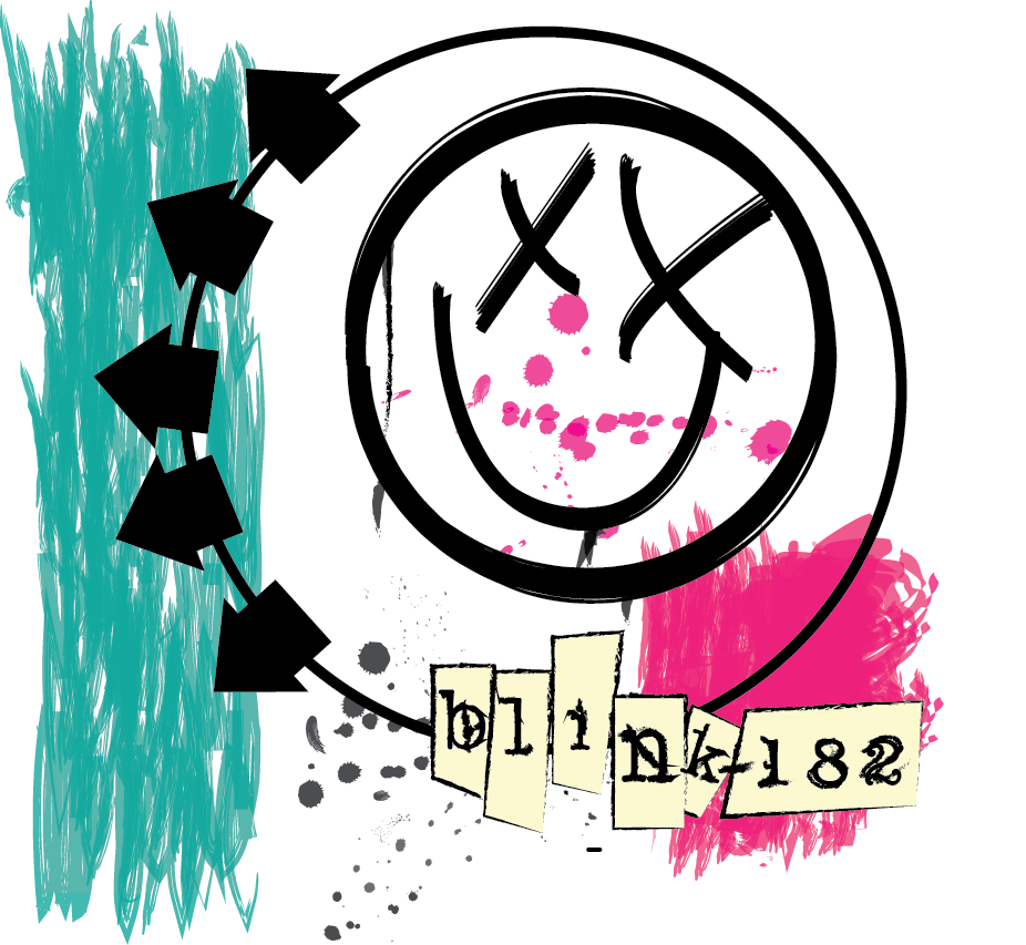 Album recreation shayd logo. Blink 182 smiley png image freeuse library