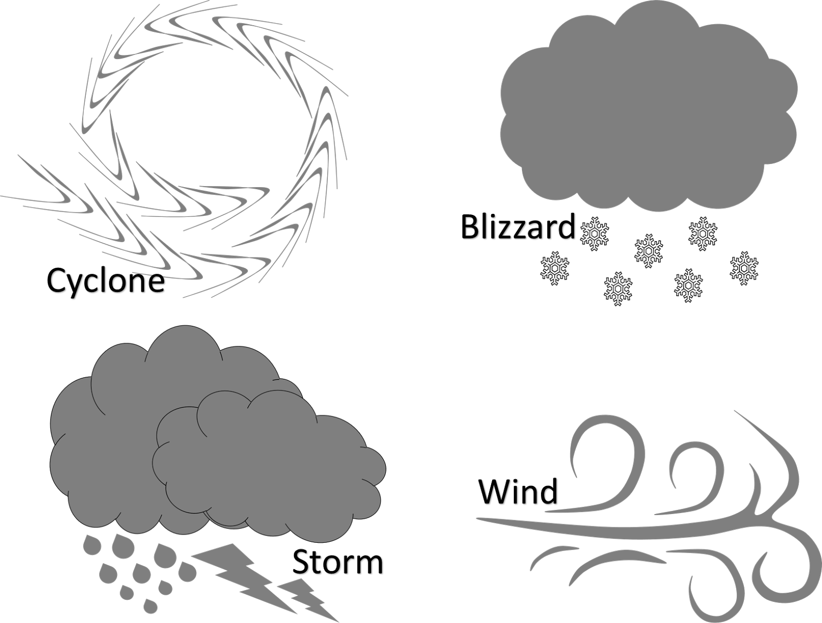 Blizzard clipart black and white. Natural disaster free creationz