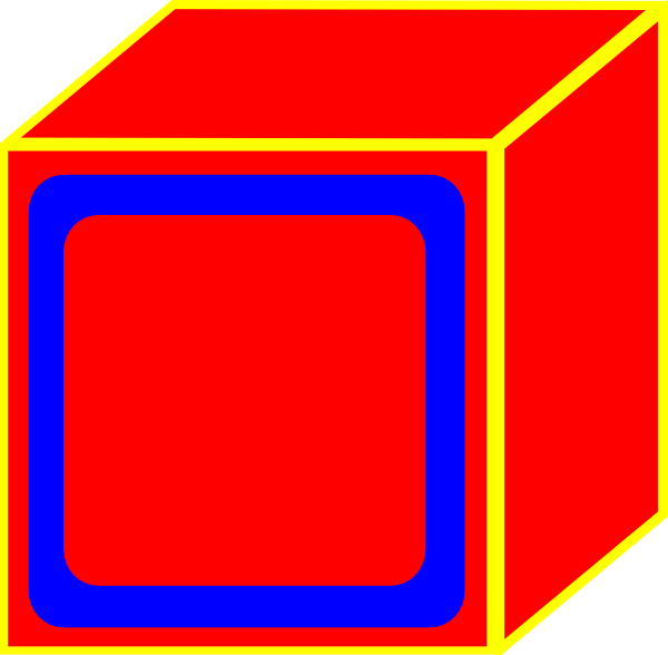 Block clipart. Red clip art at