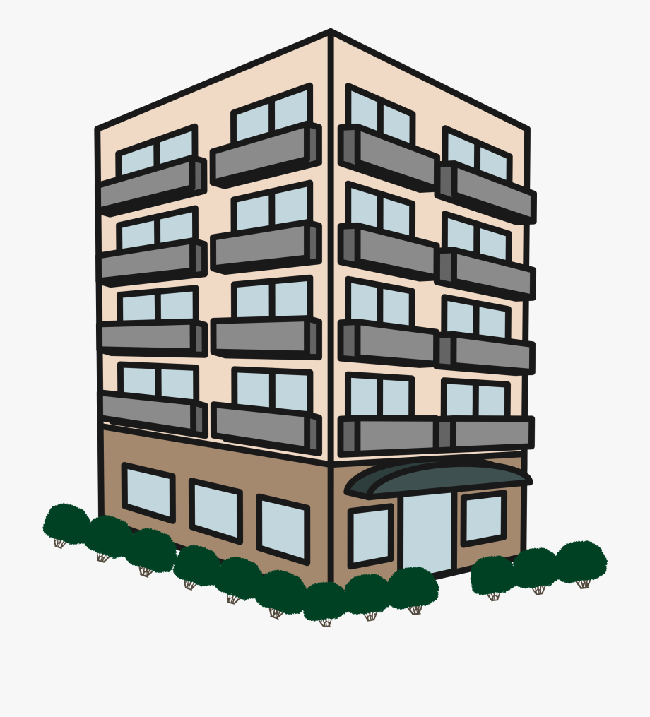 Block of flats. Apartment building icons png