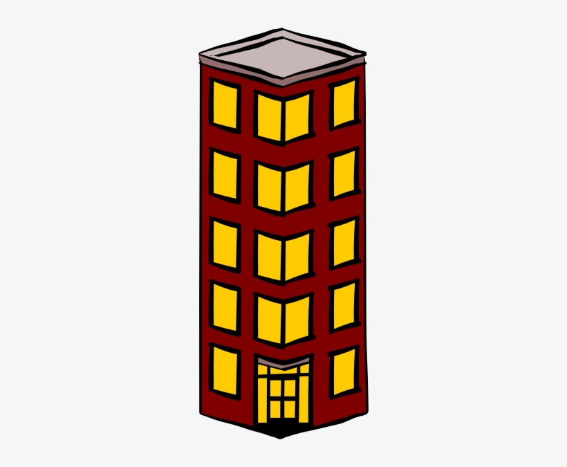 Block of flats. Tall building clipart by