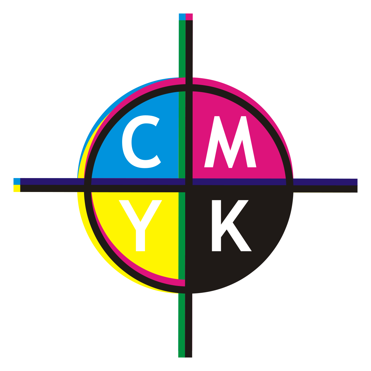 Printing vector color cmyk. Registration wikipedia