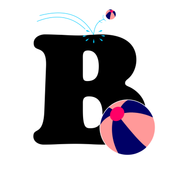 Letter b png. Alphabet blocks images vectors