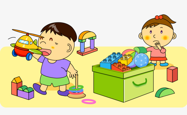 Blocks clipart toy kids sharing. Children playing with childhood