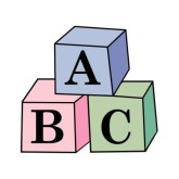 Abc blocks group cliparthut. Word clipart block graphic black and white library