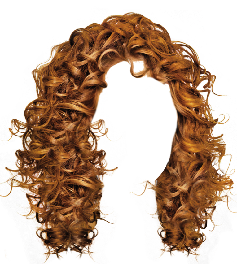 curly hair wig png