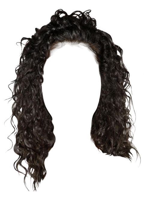 Black hair wig png. Hairstyles pinterest polyvore oxanakoxana