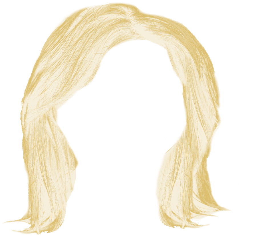 Long blonde hair png. Free icons and backgrounds