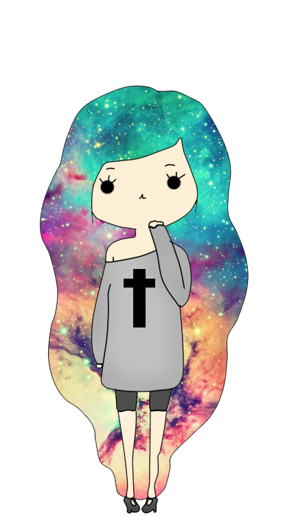 Drawing illustrations galaxy. Munequita hipster png by