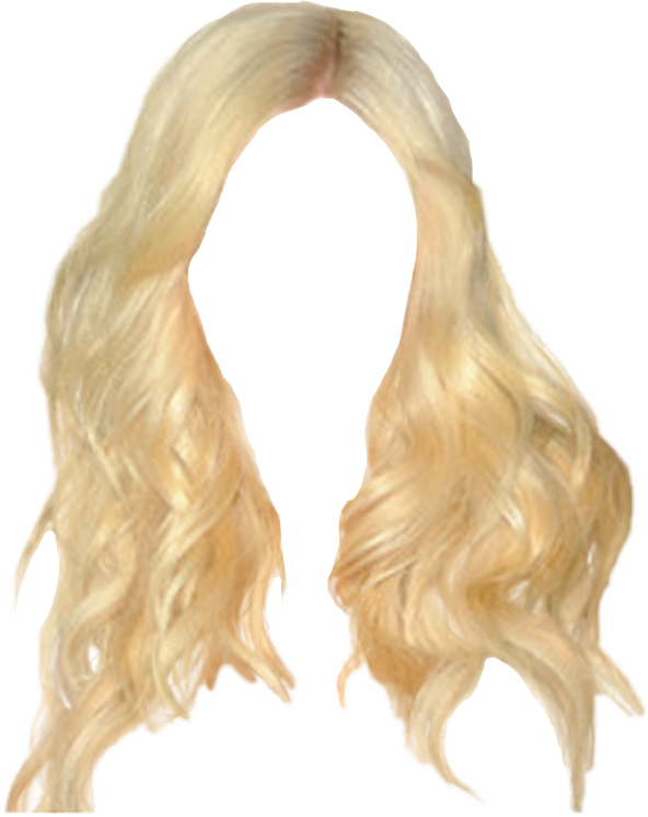 Blonde hair png. Freetoedit sticker by charlie