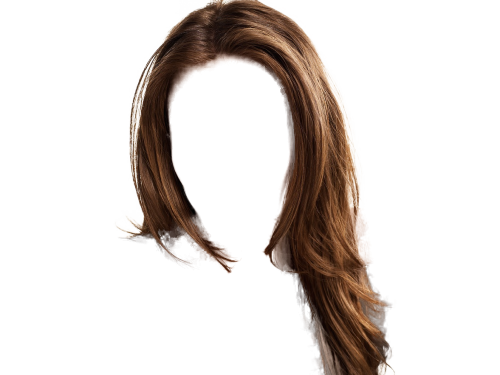 Wig clip layered. Hair five isolated stock
