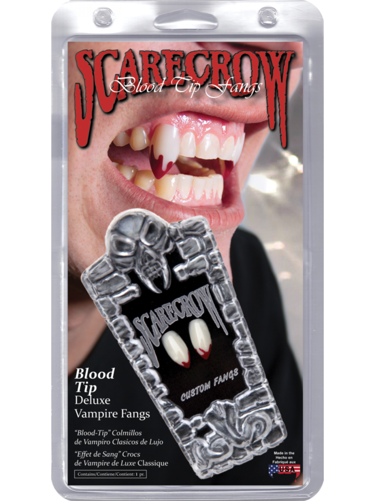Blood and fangs png. Scarecrow vampire tip classic