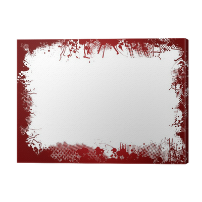Blood border png. Canvas print pixers we