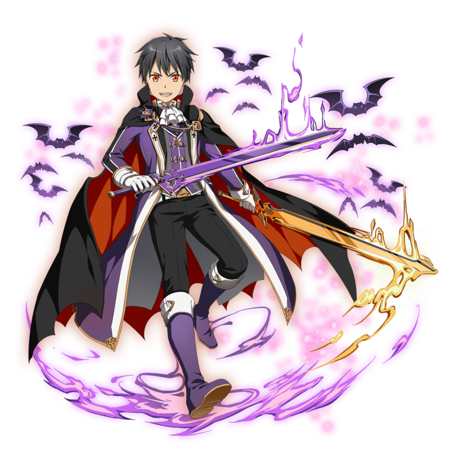 Blood fangs anime png render. Md bewitching kirito by
