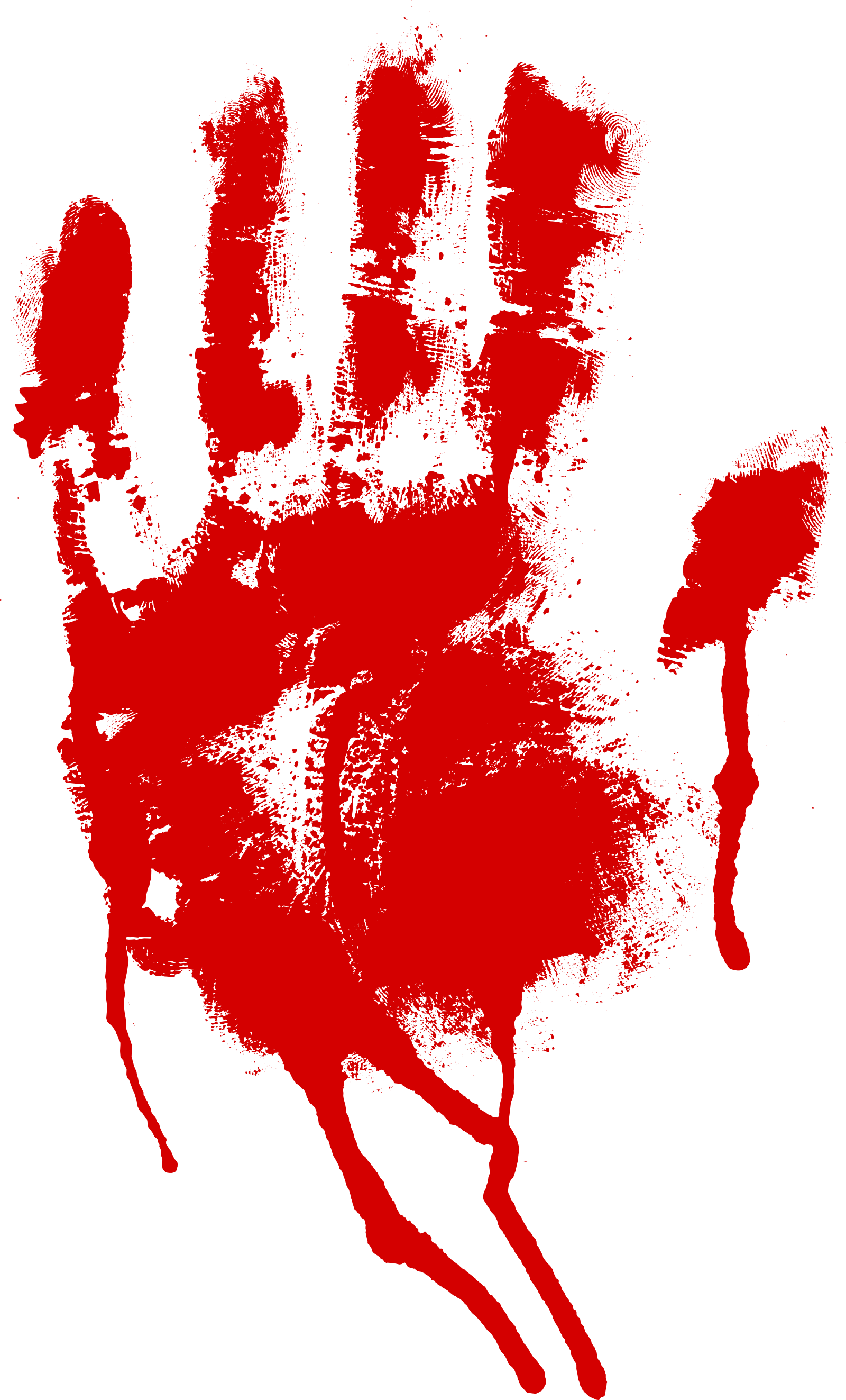red bloody png. Handprint drawing blood graphic black and white library