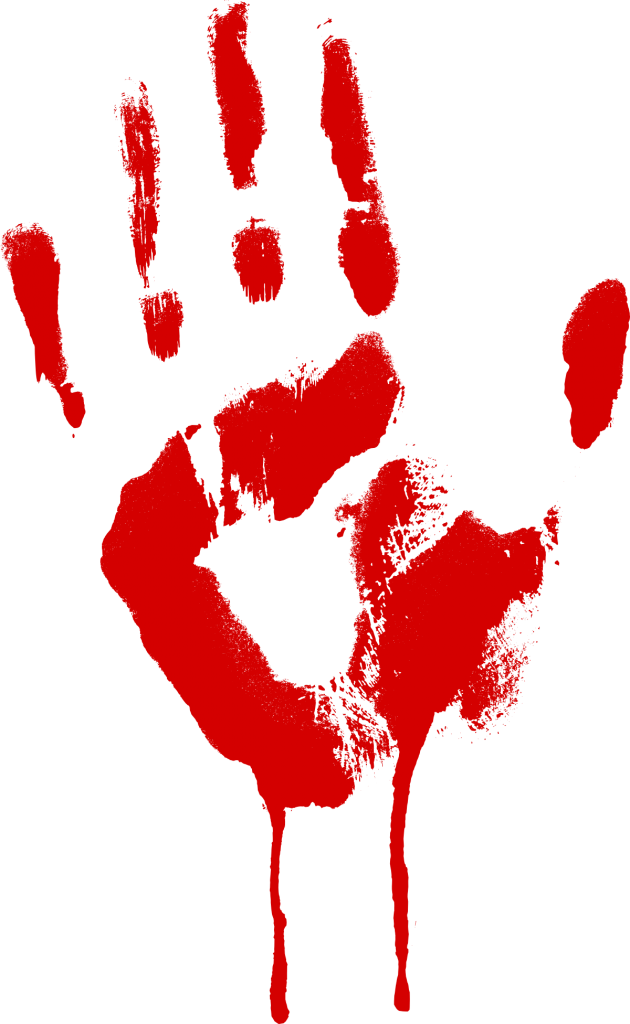 red bloody png. Handprint drawing blood graphic library download