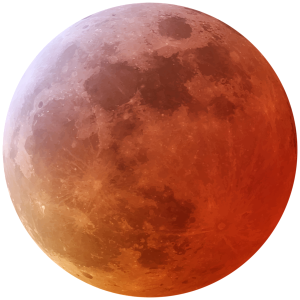 Moon png image. Red clip art gallery
