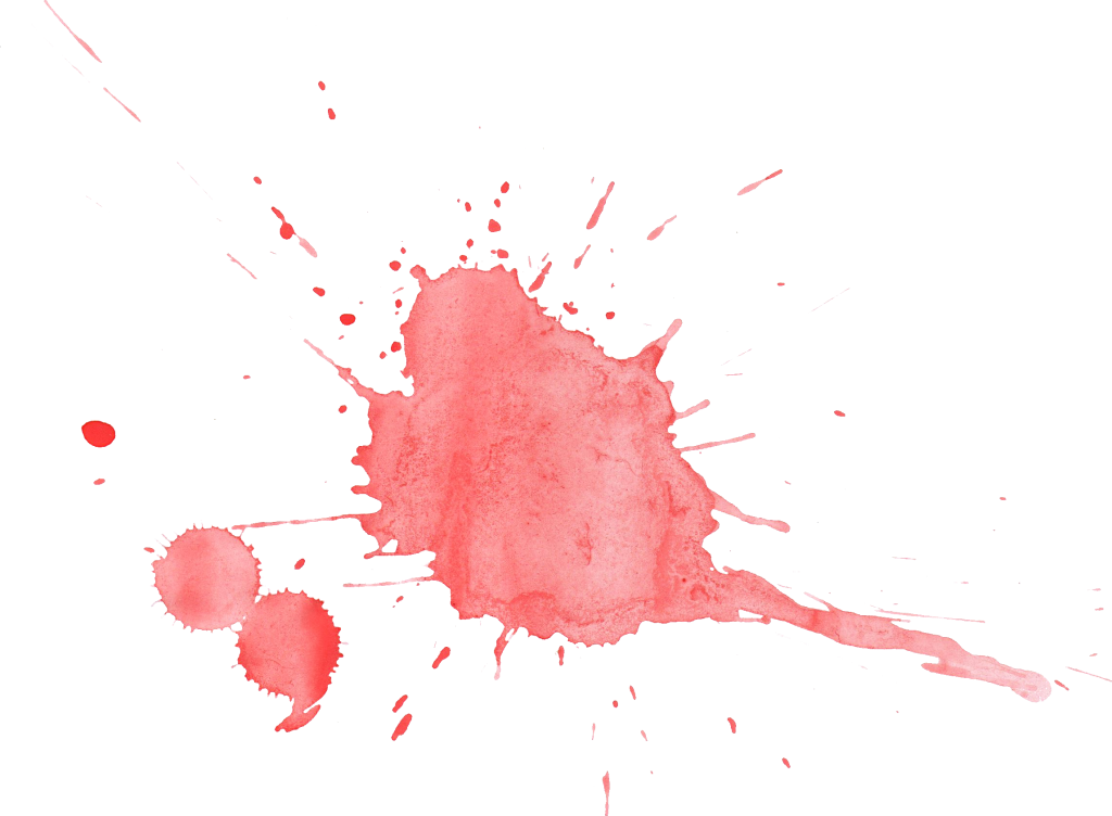 Blood stain png. Red watercolor splatter