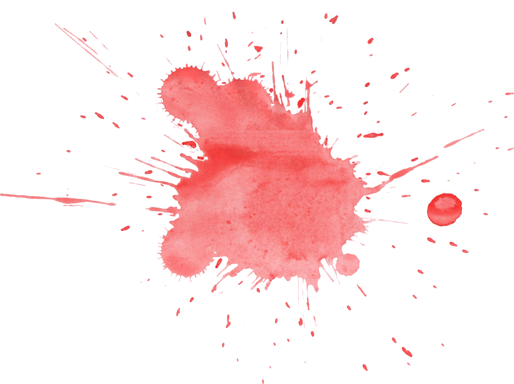 Blood stains png. Red watercolor splatter