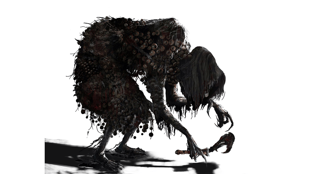 Bloodborne transparent black and white. The witch of hemwick