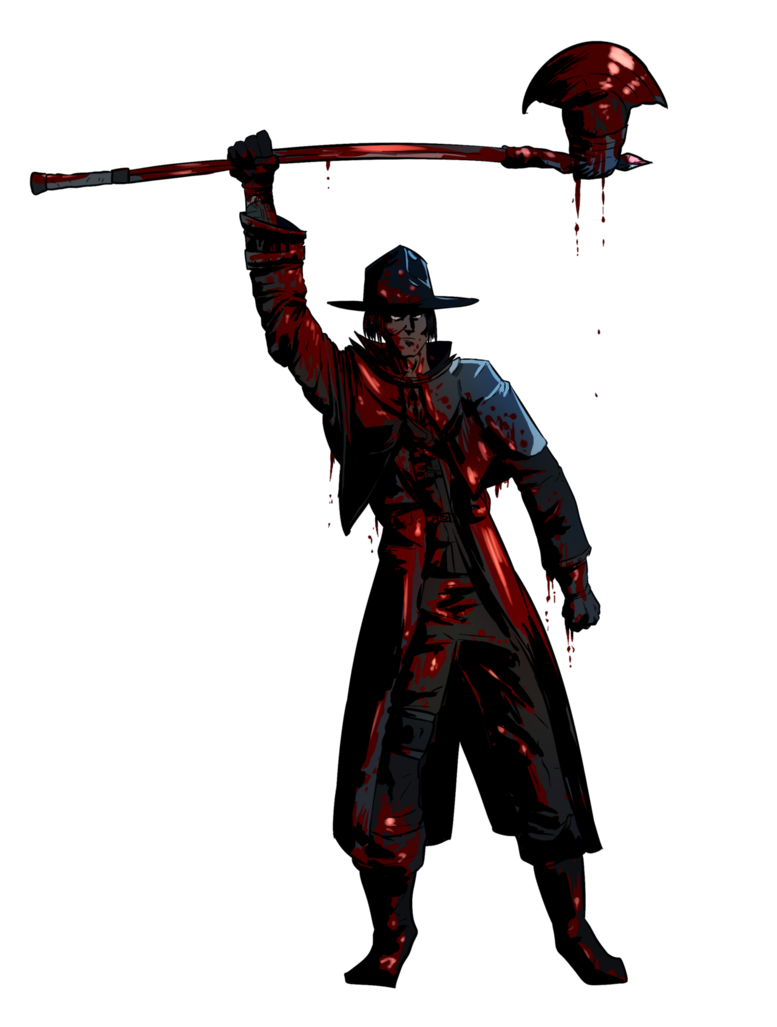 Bloodborne transparent blood hunter. Commission guy covered in