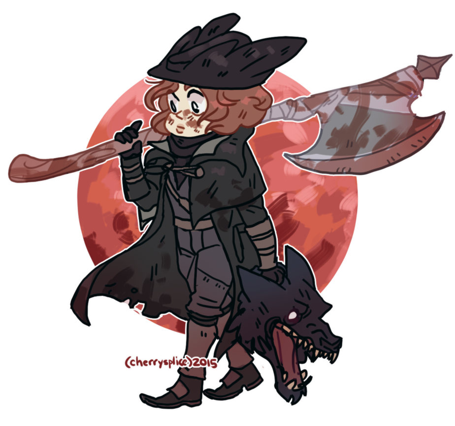 Bloodborne transparent cartoon. My little hunter by