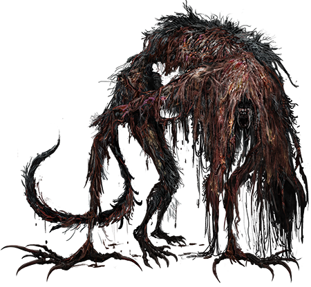 Bloodborne transparent mother brain. Is a blood soaked
