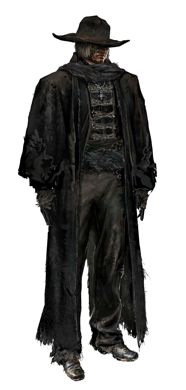 Bloodborne transparent trench coat. Father gascoigne vs battles