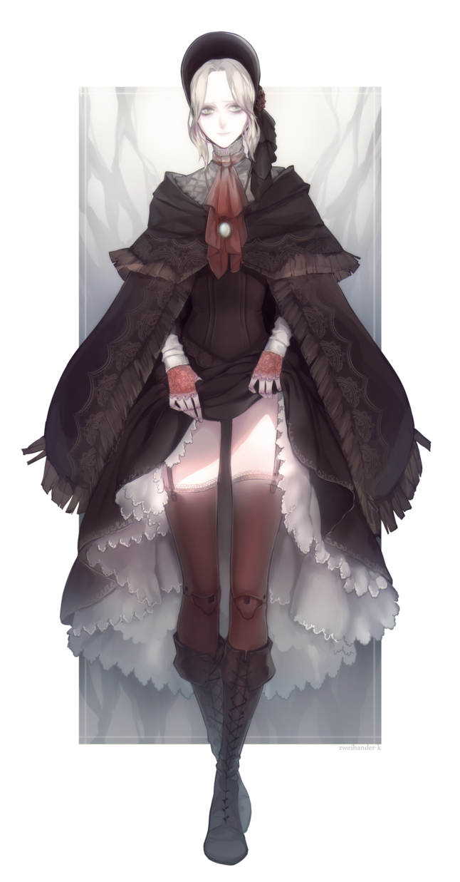 Bloodborne transparent trench coat. Fanart the doll by
