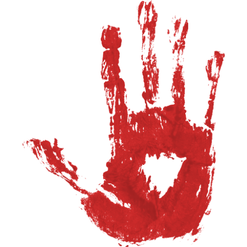 Bloody bullet hole png. Handprint two isolated stock