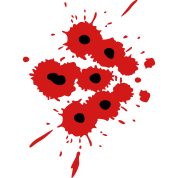 Bloody bullet hole png. Image