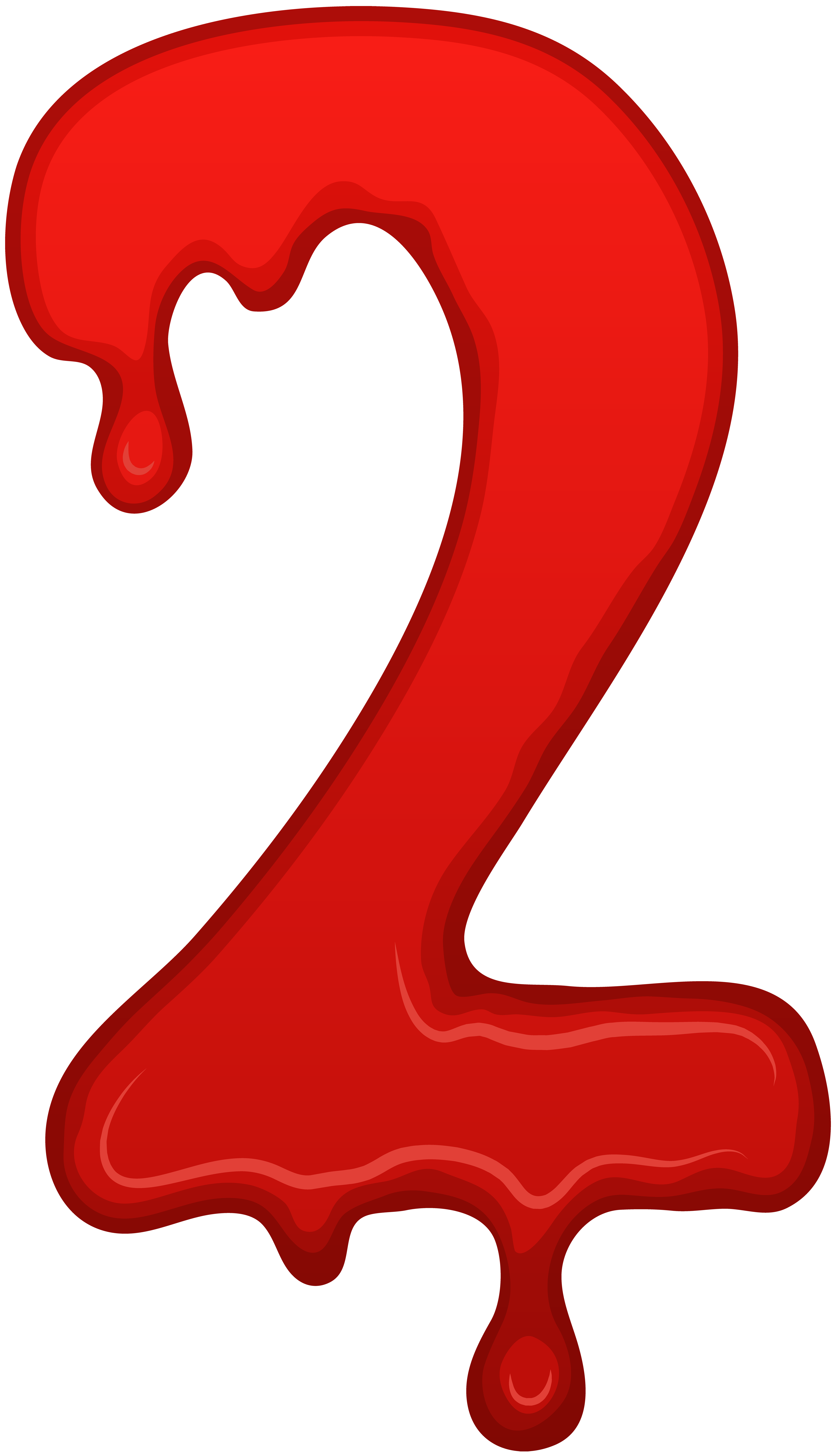 Bloody numbers png. Number two clip art