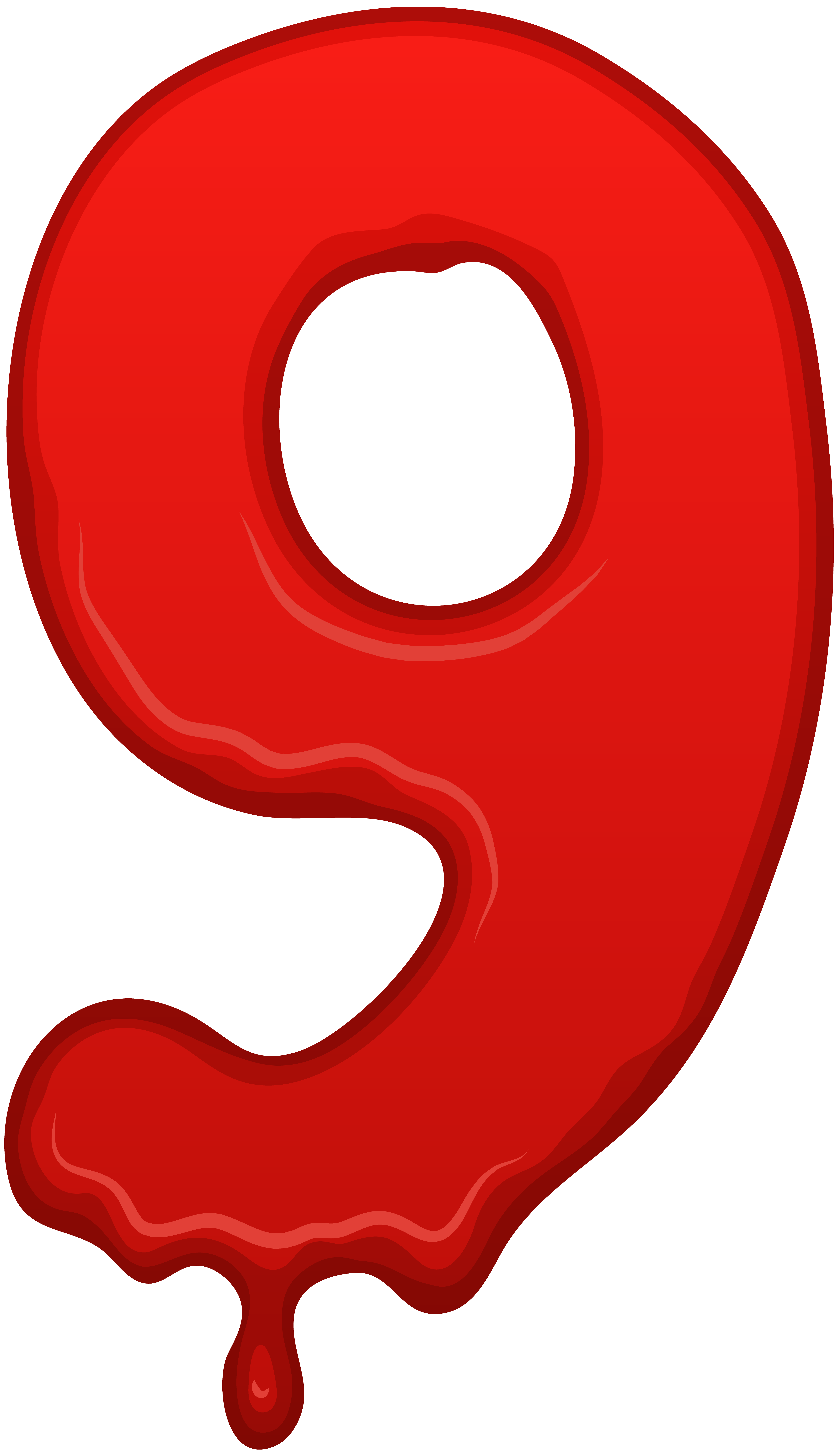 Bloody numbers png. Number nine clip art