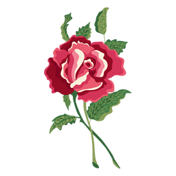 Blooming flower png. Rose head flat icon