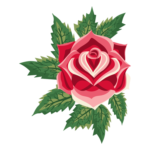 Blooming flower png. Rose icon transparent svg