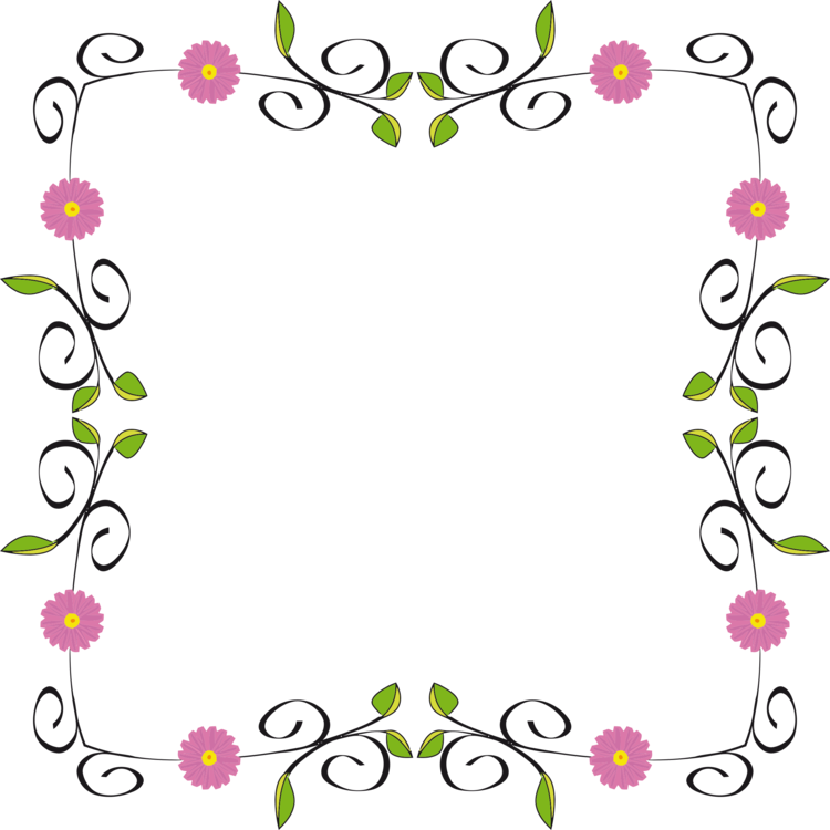 Blossom clipart border design. Borders and frames floral