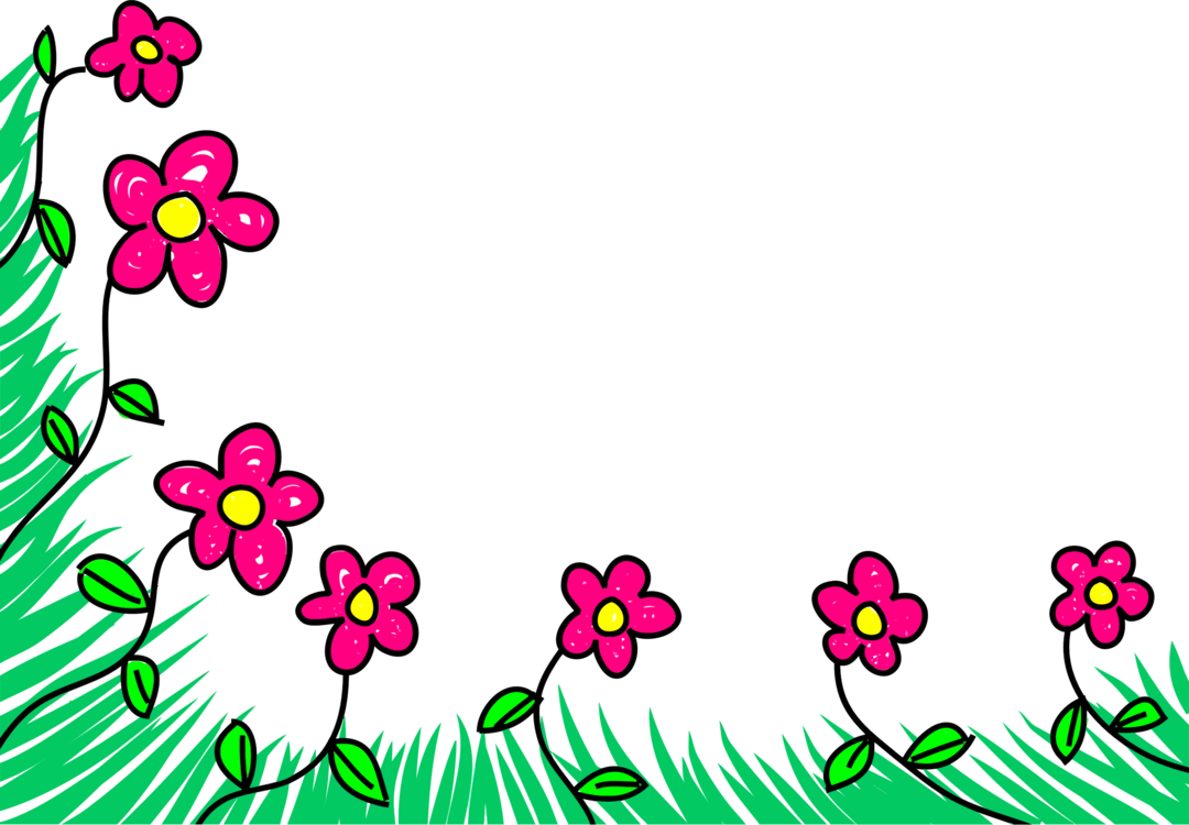Blossom clipart border design. Cut flowers floral cartoon