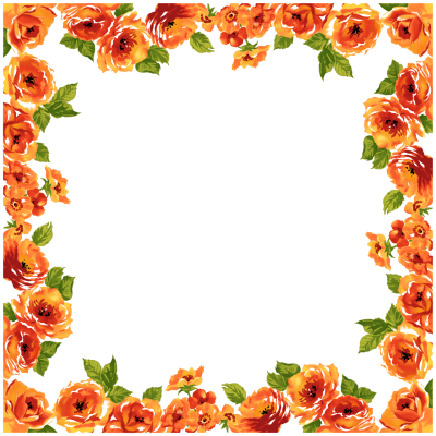 Blossom clipart border design. Download flowers borders free