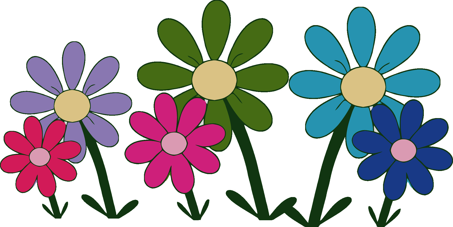 Blossom clipart cute. Collection flower clip art
