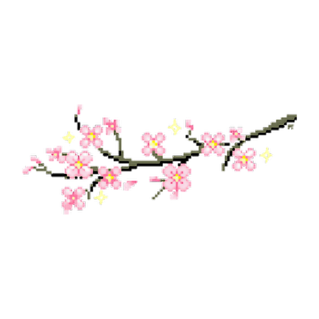 Blossom clipart kawaii. Sakura japan flower pix