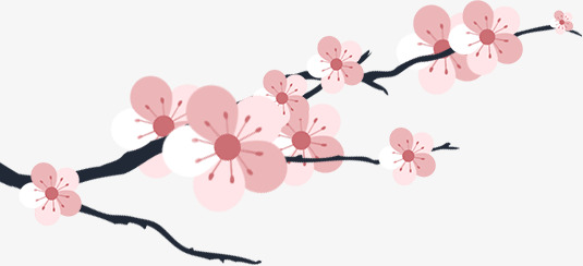 Blossom clipart peach blossom. Flat hand painted pink