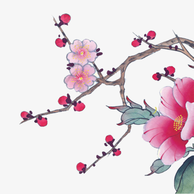 Chinese style plum png. Blossom clipart peach blossom picture free library