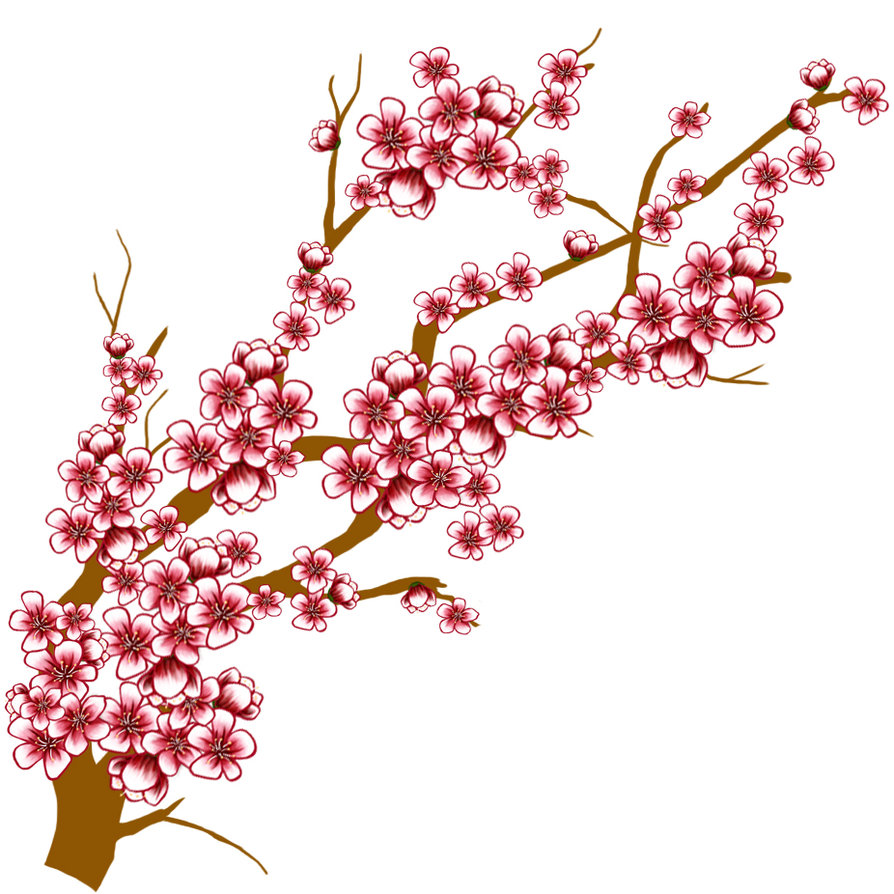 Blossom clipart weeping cherry tree. Clip art panda free