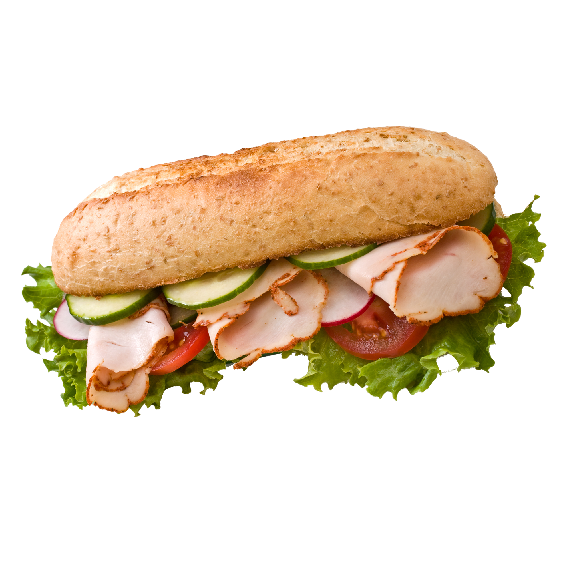Blt baguette png. Hamburger ham and cheese