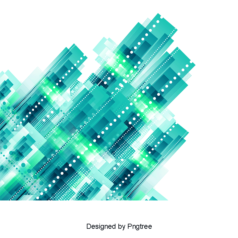 Blue abstract png. Geometric lines of science