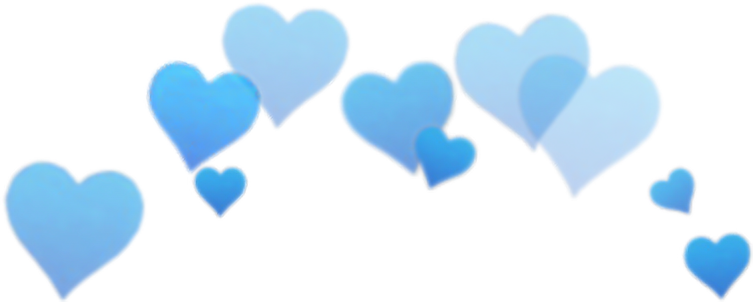 Blue aesthetic png. Tumblr hearts image