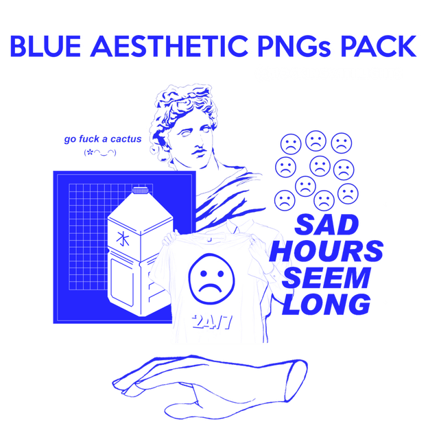 Blue aesthetic png. Free packs hipsthetic