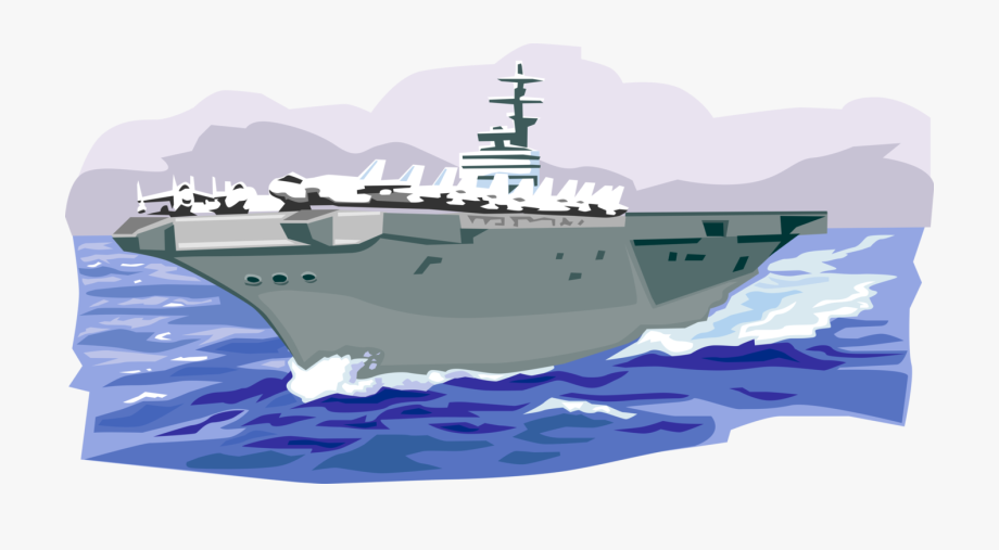 Aircraft carrier. Patrols carriers vector