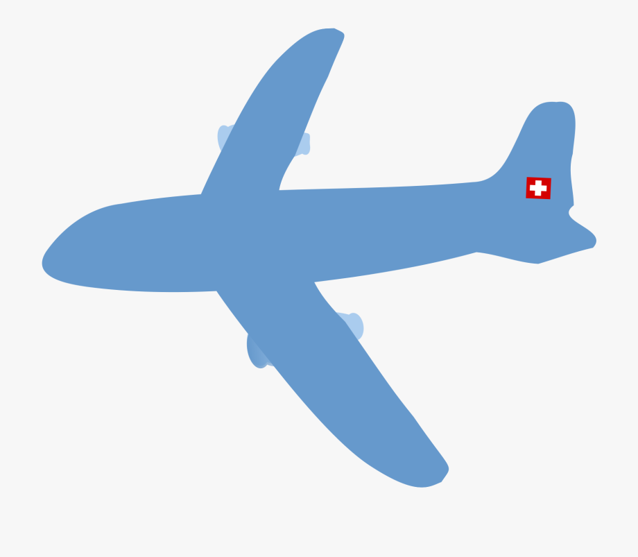 Blue plane. Airplane clipart no background