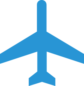 Blue airplane. Free plane cliparts download